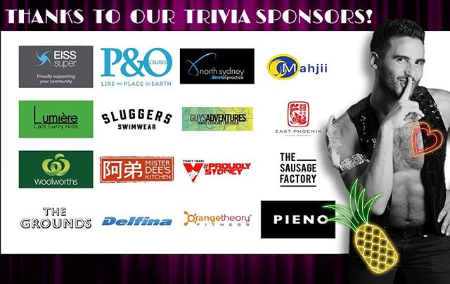 Please join us in thanking our incredible sponsors, who helped us make #StingersTrivia a huge success! These business support your community, so please support them! 🌈💃❤️