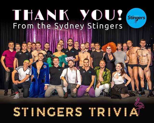 We hope you had a great time at Stingers Trivia on Friday or Saturday night... we sure did! Your generous support helps keep our club running. Thank you! 🌈💃❤️