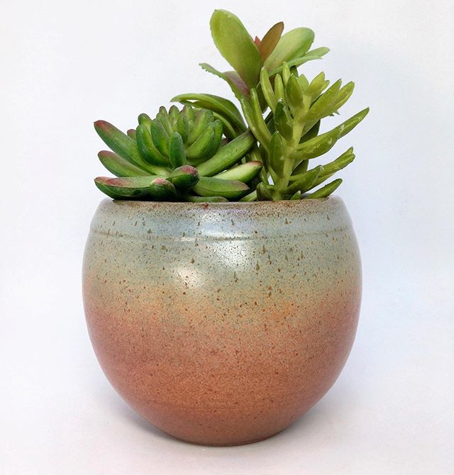 Fresh out of the kiln! The glaze came out a little more matte but I think I like it 😊 #ceramicshop #succulentsofinstagram #succulentplanter #handmadepottery #potterylove #picoftheday #ceramicsart #shopsmall #shopsustainable