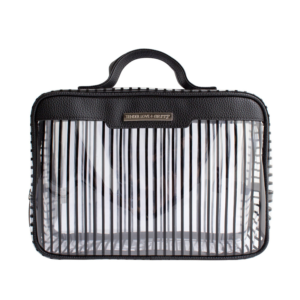 Crystal Stripe Traveller - Black - Code: T-243CS