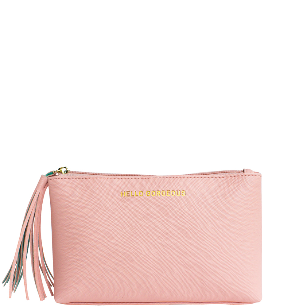 Hello Gorgeous Basic Pouch - Blush - Code: T-191HGB