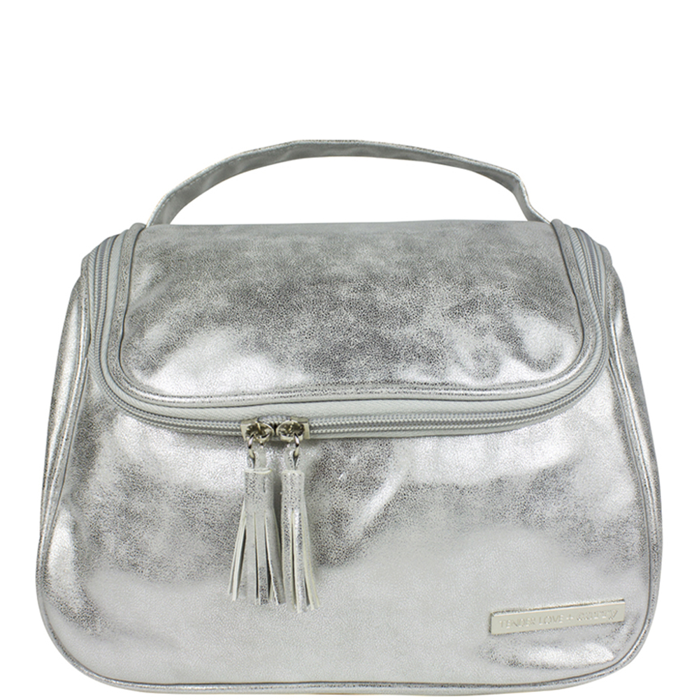 Metallic Suede The Weekender - Silver - Code: T-196SUS