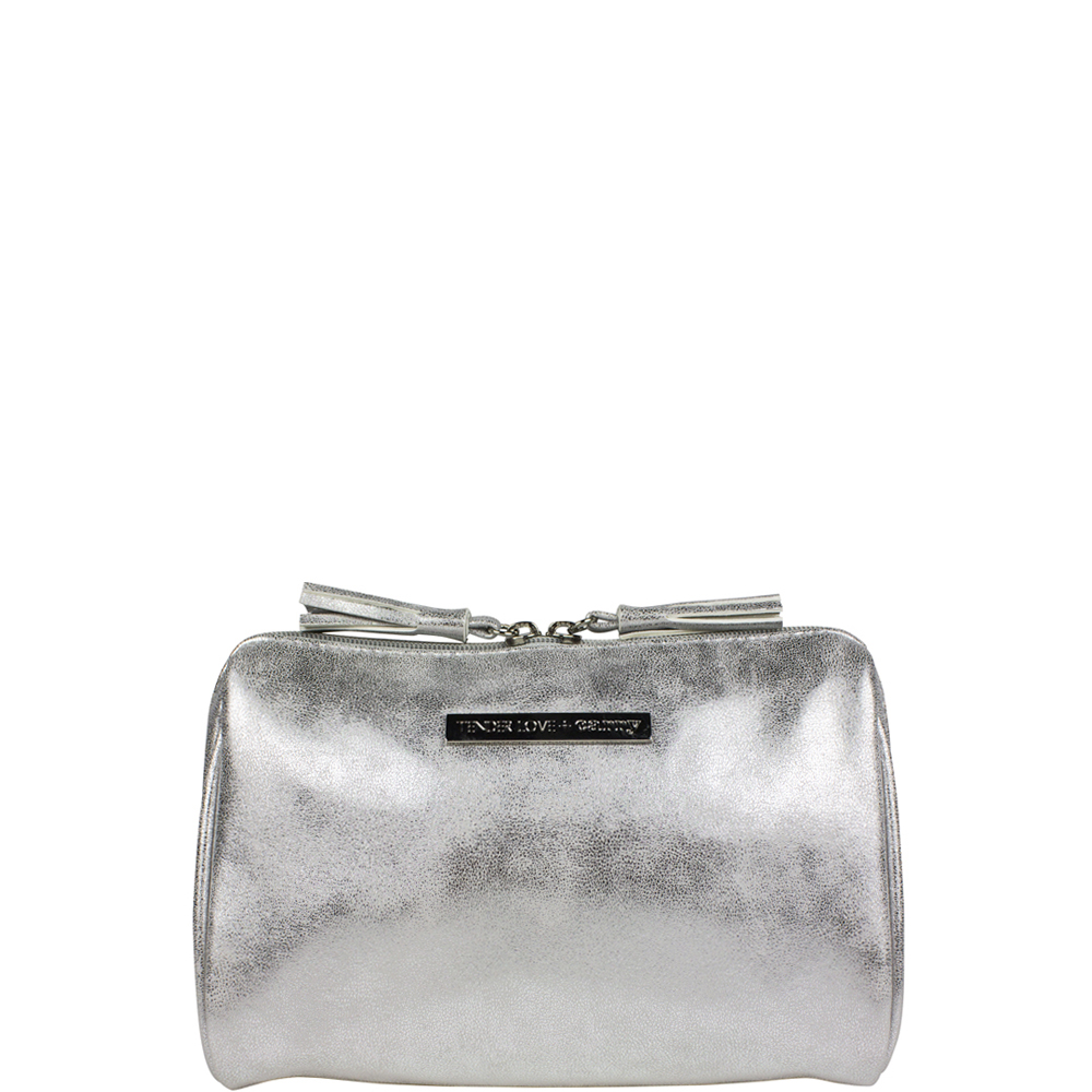Metallic Suede Clamshell - Silver - Code: T-228SUS