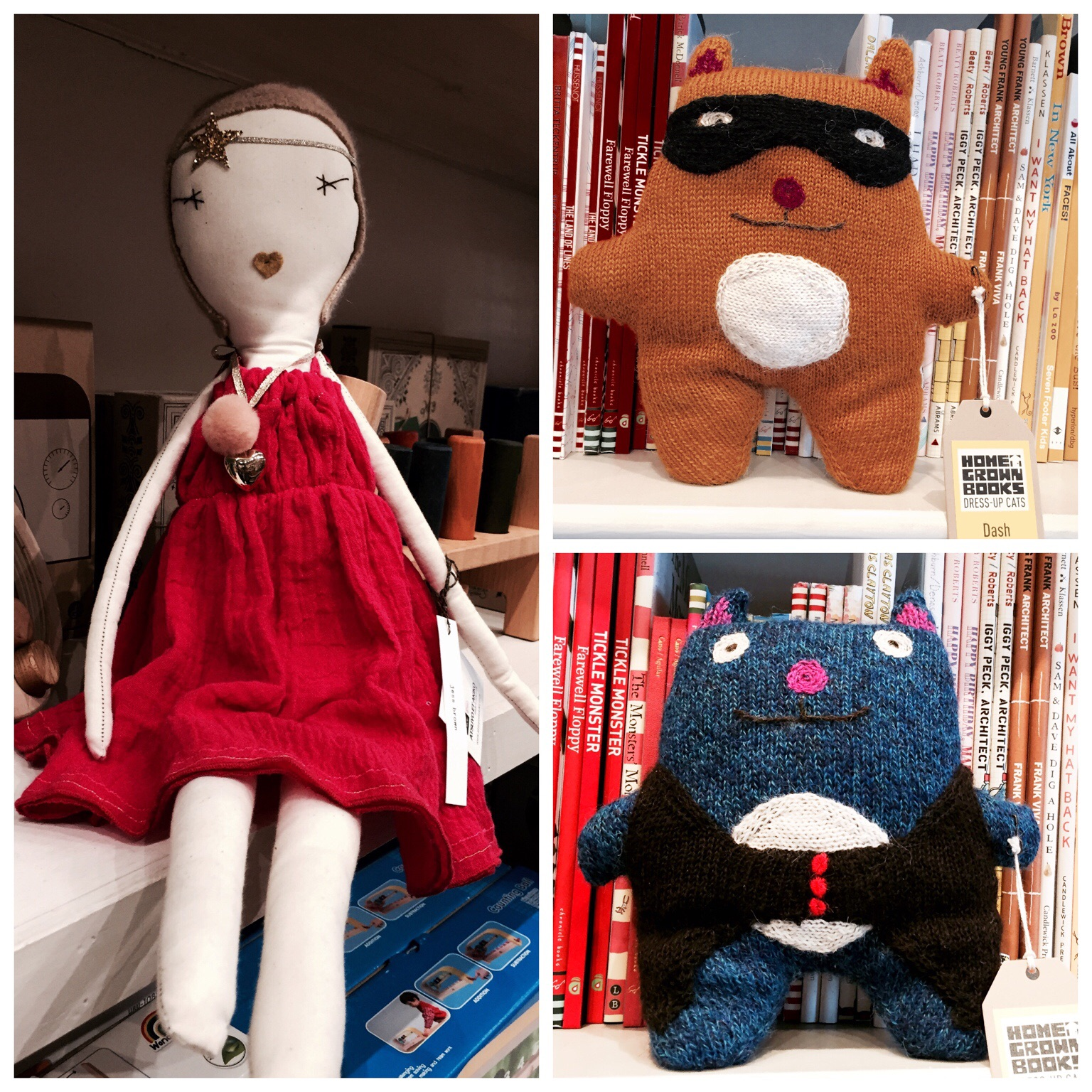 Jess Brown doll and Home Grown Books soft toys