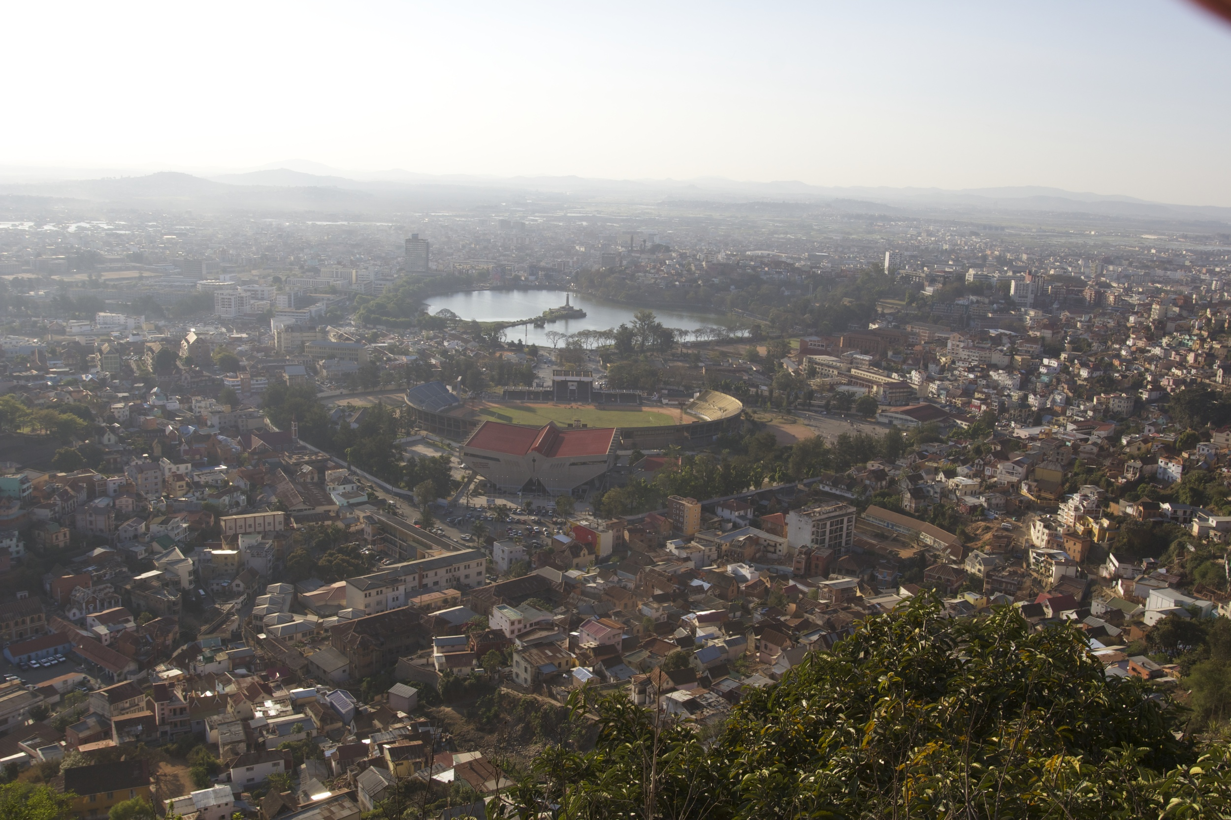 Overlooking Tana from the city's highest hill