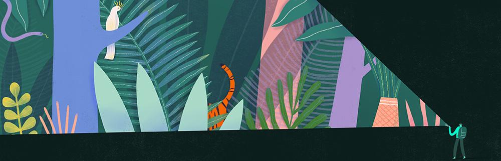 Etsy_World of Etsy_Spot Illustration_Wildlife Kingdom_Mark Conlan