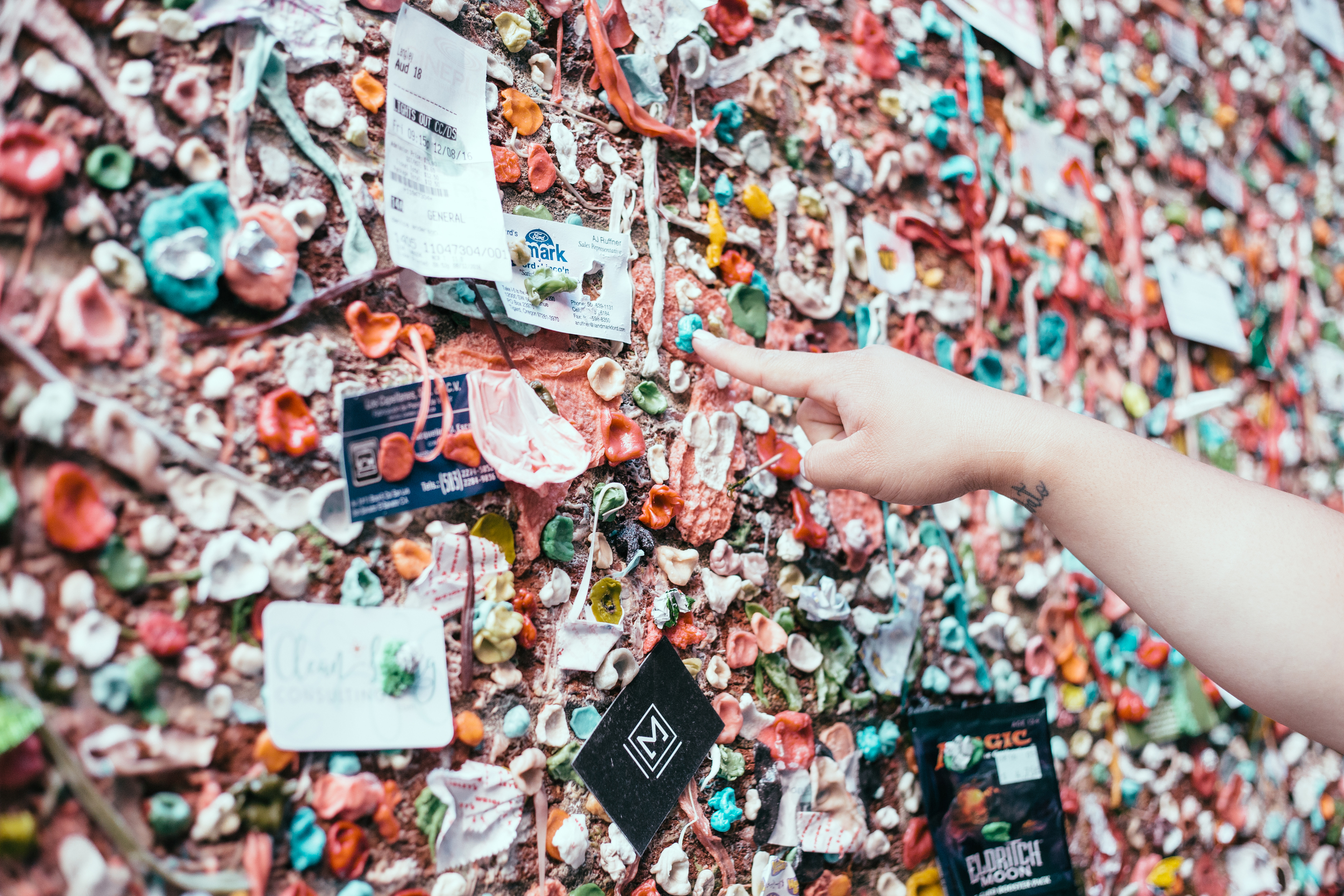 Classic Gum Wall action because who visits Seattle and skips this infamous alleyway?