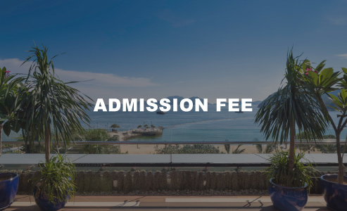 from 10am - 7pm (weekday)    from 10am - 2pm (weekend & public holiday)     ADMISSION FEE  $320    access to japanese bath, sunlounger at first-come, first-served basis, outdoor showers, beach towel