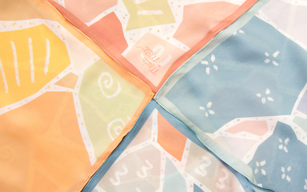 Our first series; Terrazzo Silk Scarf