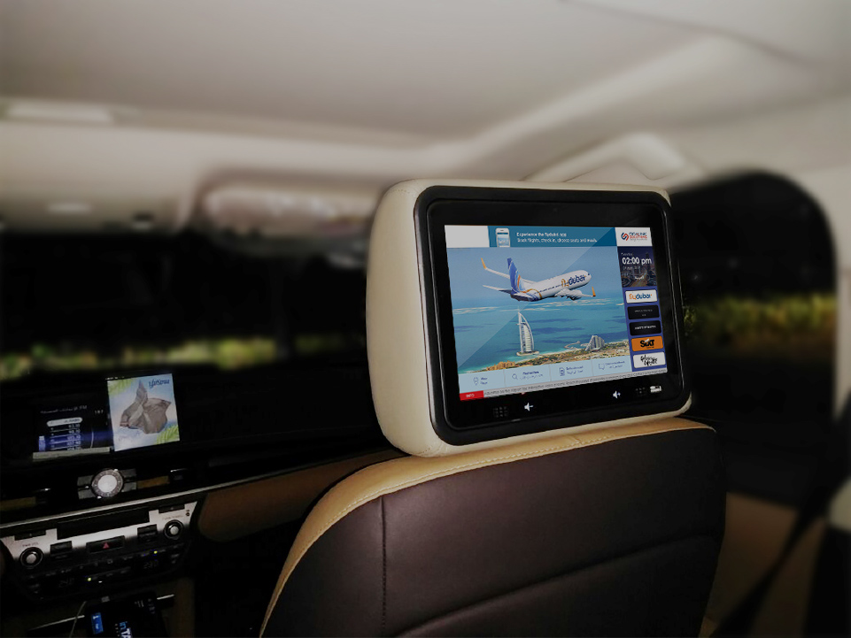 Dubai AirportTaxi Screens - Reach more than 1.6M airport passengers per month with interactive connected touch screens.