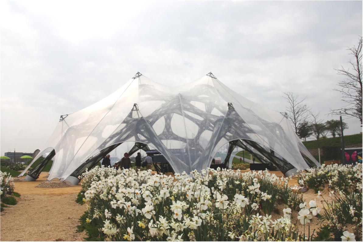 Faserpavillon, Bundesgartenschau 2019, Heilbronn (17. April - 06. Oktober 2019)