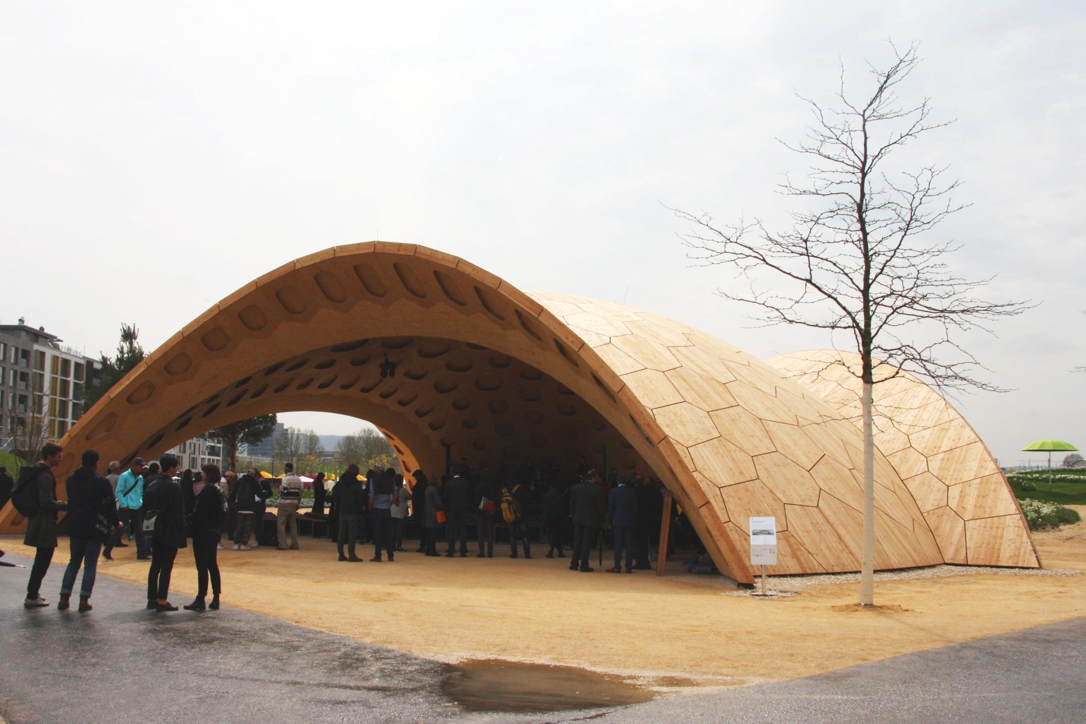 Holzpavillon, Bundesgartenschau 2019, Heilbronn (17. April - 06. Oktober)