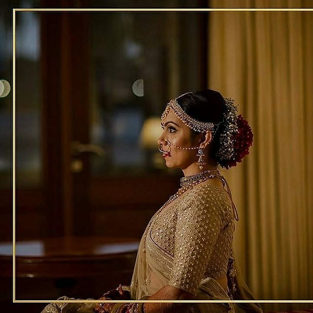 #SVABRIDE Fonal Thakkar looks replendent on her wedding day in our  gold intricate handwork lehenga.  #sva #svacouture #svabride #bride #weddings #indiantradition #indian #lehengas