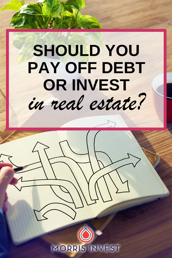 Debt can be overwhelming, but the prospect of creating passive income is enticing! Many people understand the value of real estate investing, but are concerned about approaching investing when weighed down by debt. How can you choose what is right for you?