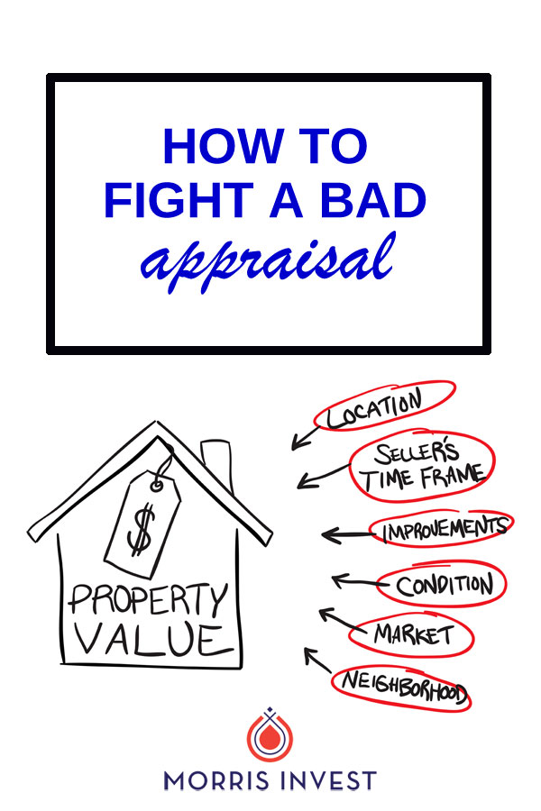 Getting a low or bad appraisal on a property can often stop a deal dead in its tracks. It sounds intimidating, but there's good news! There are a few key ways to fight a bad appraisal, which is also known as a reconsideration of value. | real estate investing | rental property