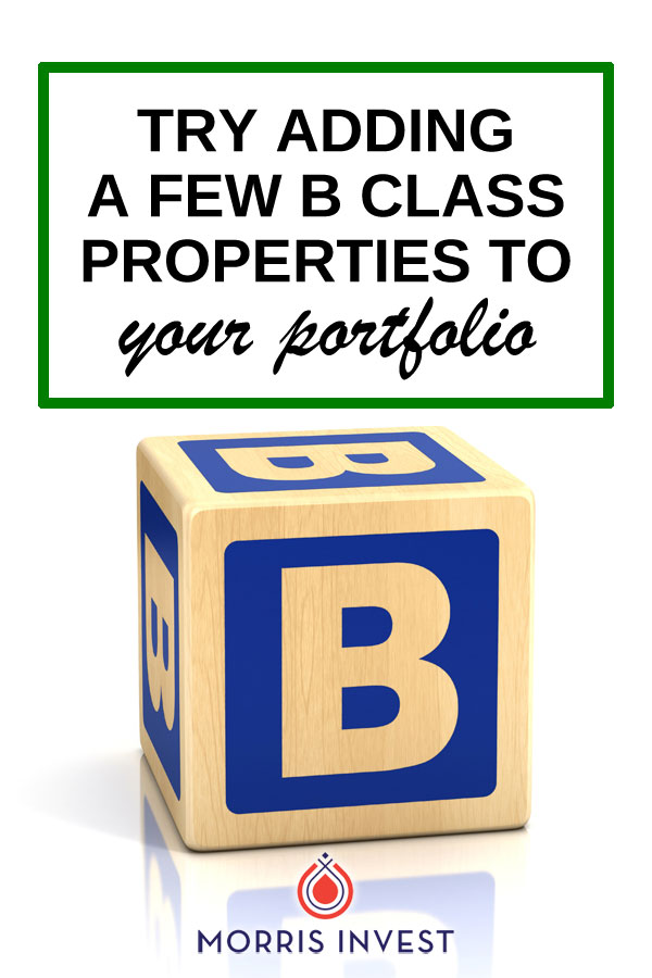 Here's why you might want to consider purchasing some B class rental properties. We talk about equity, ROI, and the appreciation you can expect to receive.