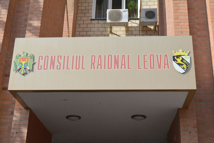 The 'Leova District Council' government building.
