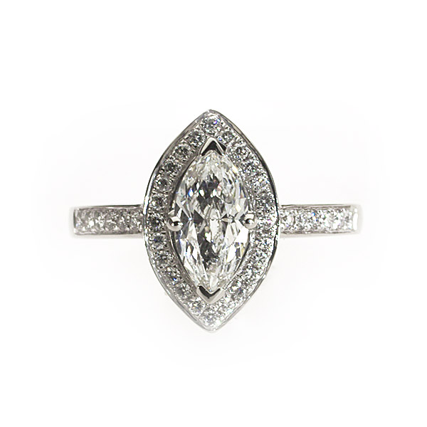 Maya Marquise Vintage Solitaire Ring