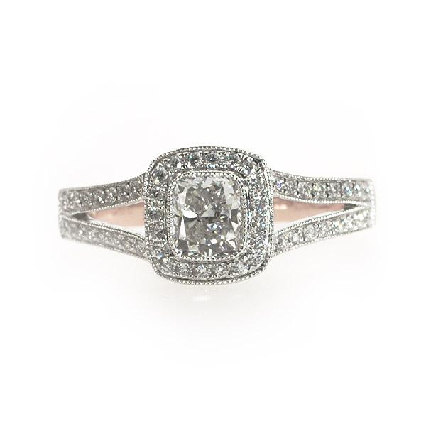 Celine Cushion Shape Vintage Solitaire Ring