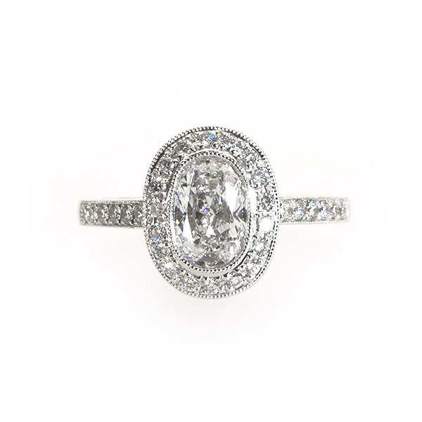 Monroe Oval Shape Vintage Solitaire Ring