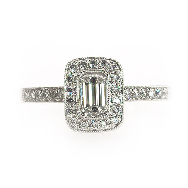 Monroe Emerald Vintage Solitaire Ring