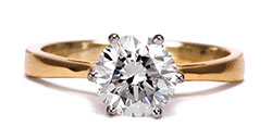 Diamond Solitaire Yellow Gold