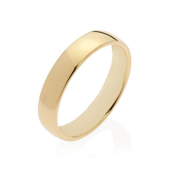 Neptune Yellow Gold Men's Wedding Band Ring