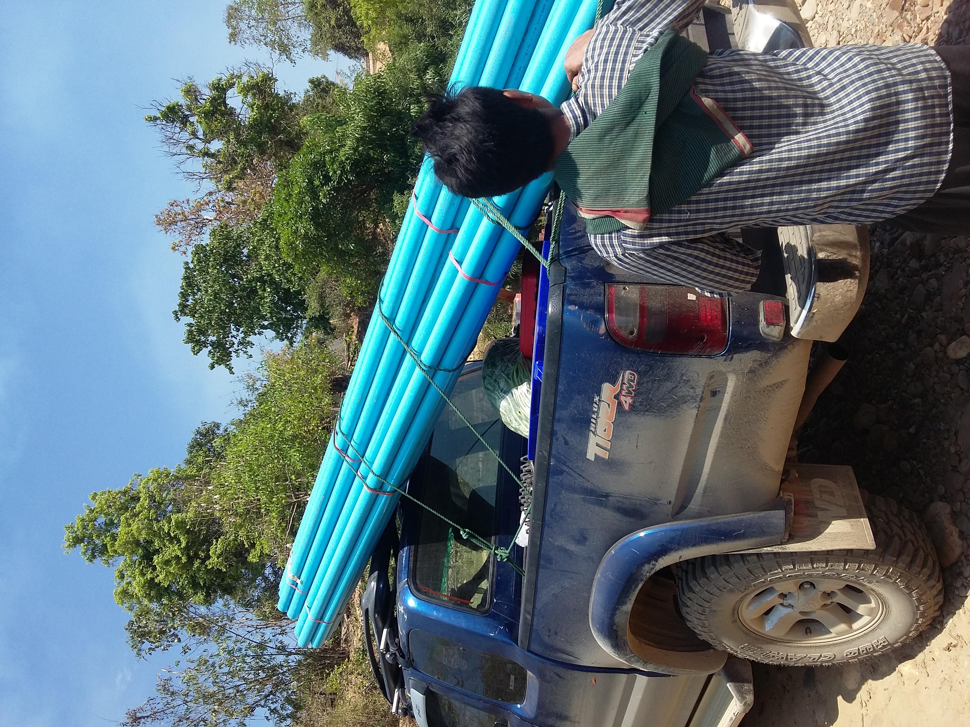 Transporting PVC Pipe