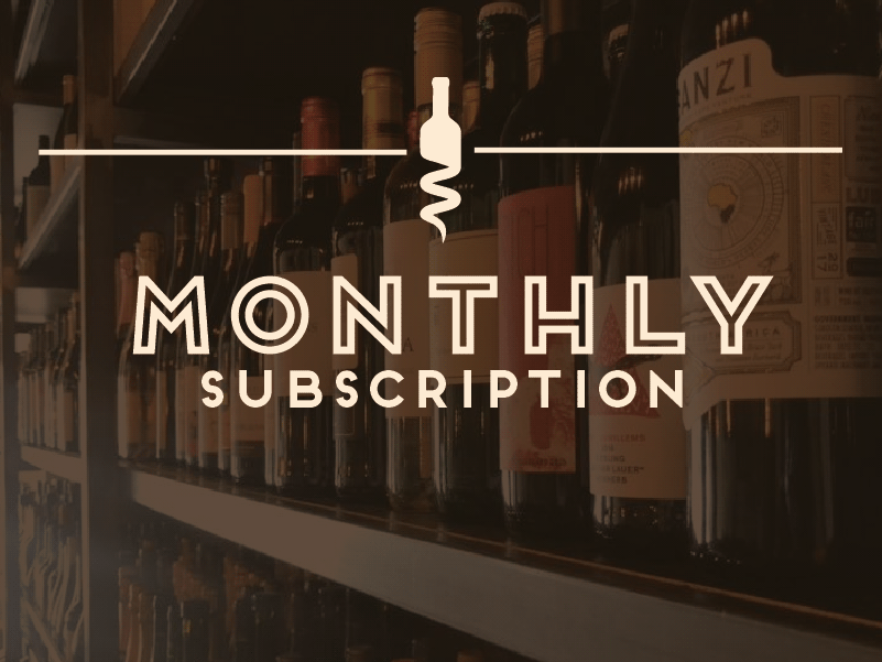 Monthly Membership - $40/MonthTwo bottles of wine per monthComplimentary seating for (2) at an exclusive wine tasting event every quarter after your first 3 months.Exclusive promotions such as wine education newsletters, limited bottle offerings, and other special events and incentives.