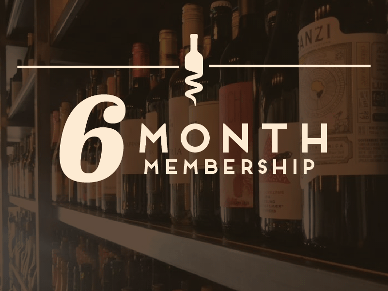 6 Month Membership - $240/6 MonthsTwo bottles of wine per monthComplimentary seating for (2) at an exclusive wine tasting event every quarter.Exclusive promotions such as wine education newsletters, limited bottle offerings, and other special events and incentives.10% off all retail items in Cata Vino for the duration of your wine club membership.