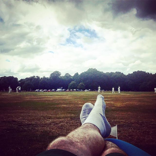 Best seat in the house to watch 'The Motbot' put on a batting masterclass. #cleverbotty