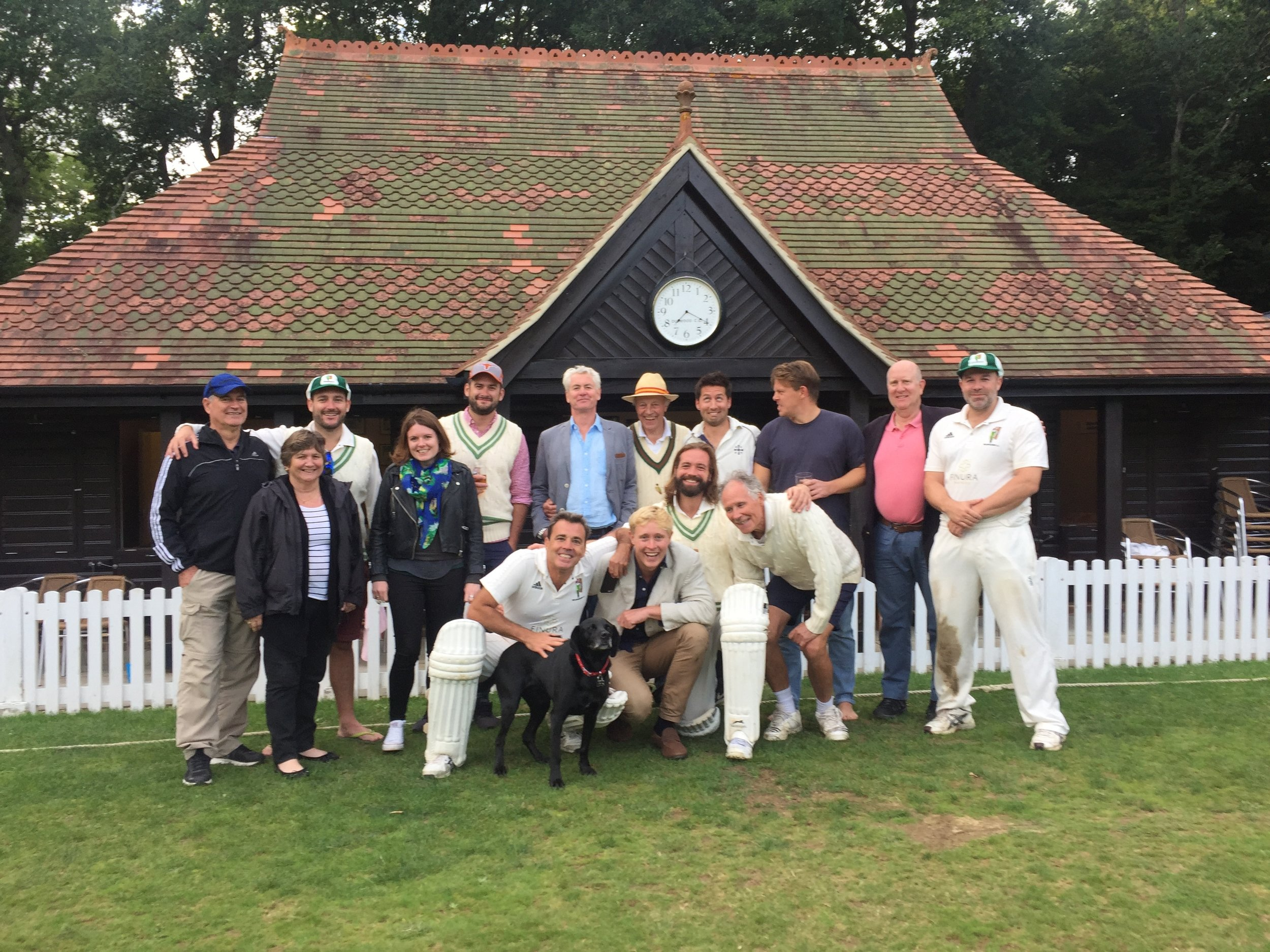 P eckers complete with SPs parents, Kiwi Horse and Cappy, Tamsin, and Jim the Umpire