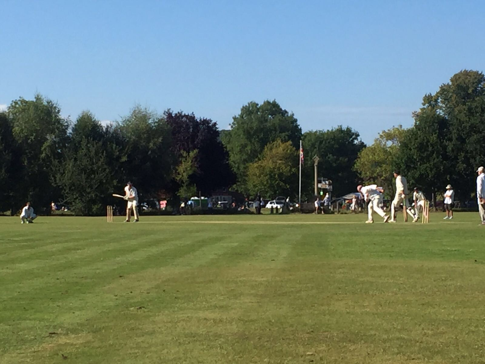 C le D' at the crease...