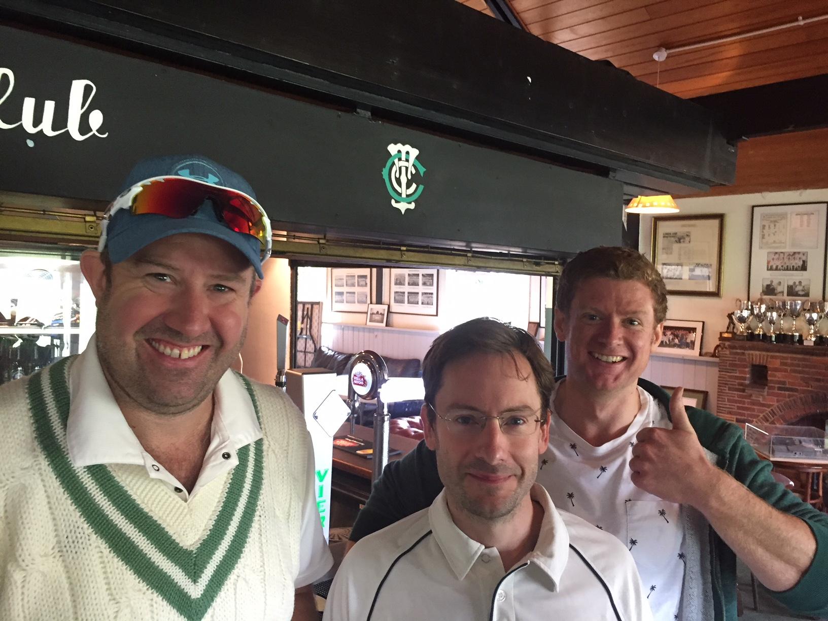 Alex 'old horse' Gowar, 'Big Al' Cumming and Alex' El Collleen' Collier