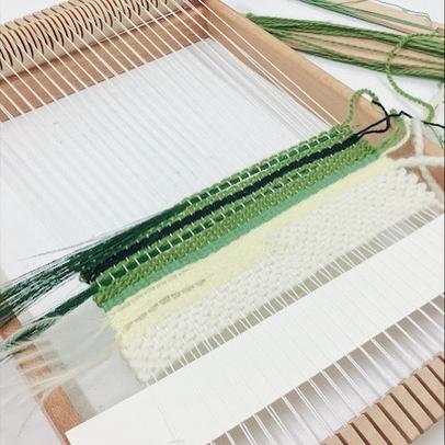 綠色的 ☺️ #위빙 #weaving