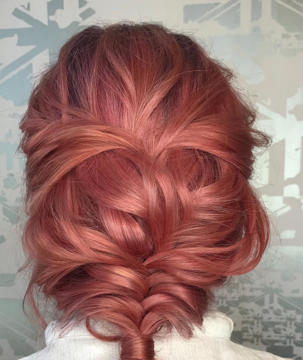 Sadie did this colour today!  On trend as ever …