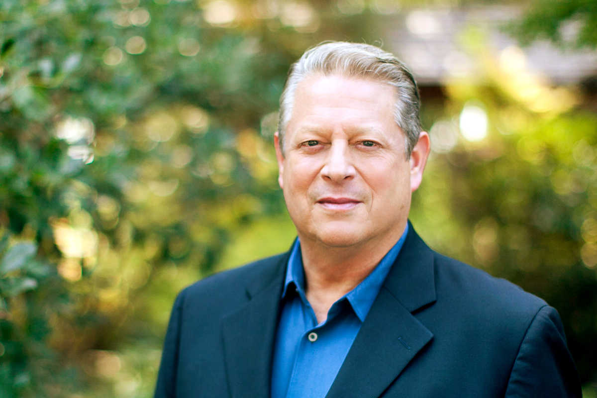 Al Gore spoke Monday at a renewable energy conference in Georgetown.