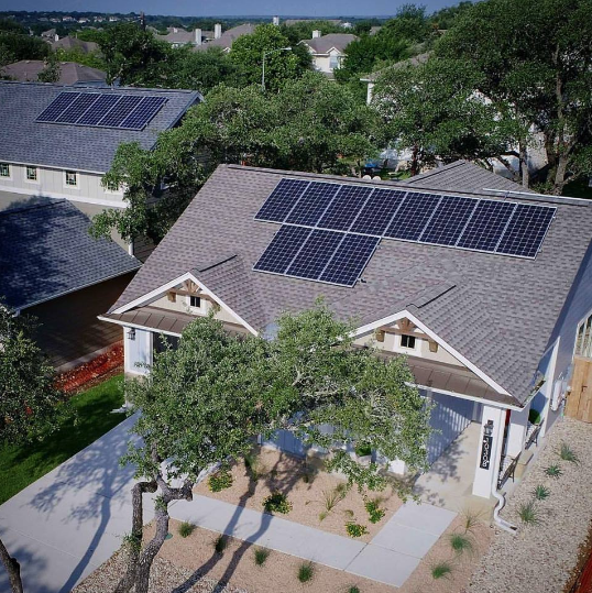Georgetown will use its $1 million grant award from Bloomberg Philanthropies to place solar panels on the roofs of Georgetown homes. (Courtesy Jeremy Sexton)