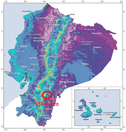 Wind resource map of Ecuador. Source: Ecuador Ministry of Energy