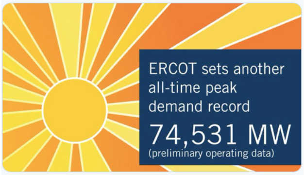 ERCOT (August 14th Twitter):  a sunny outlook for generators