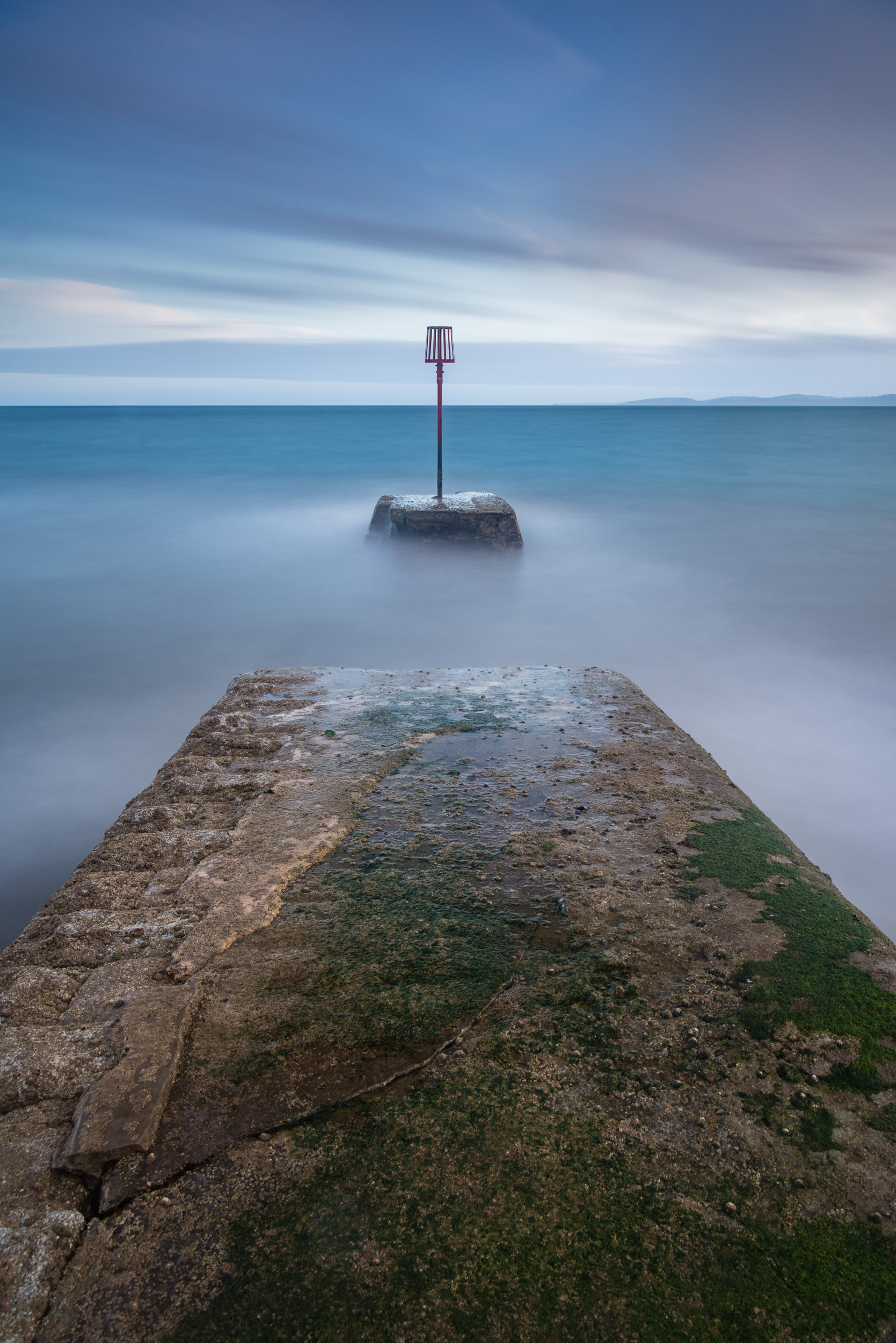 Not as calm as it looks. Nikon D750, Nikon 24-70 f/2.8 VR, 195 secs at f/11, Lee Filters ND Grad, Polariser, and Big Stopper. Processed in Lightroom CC.