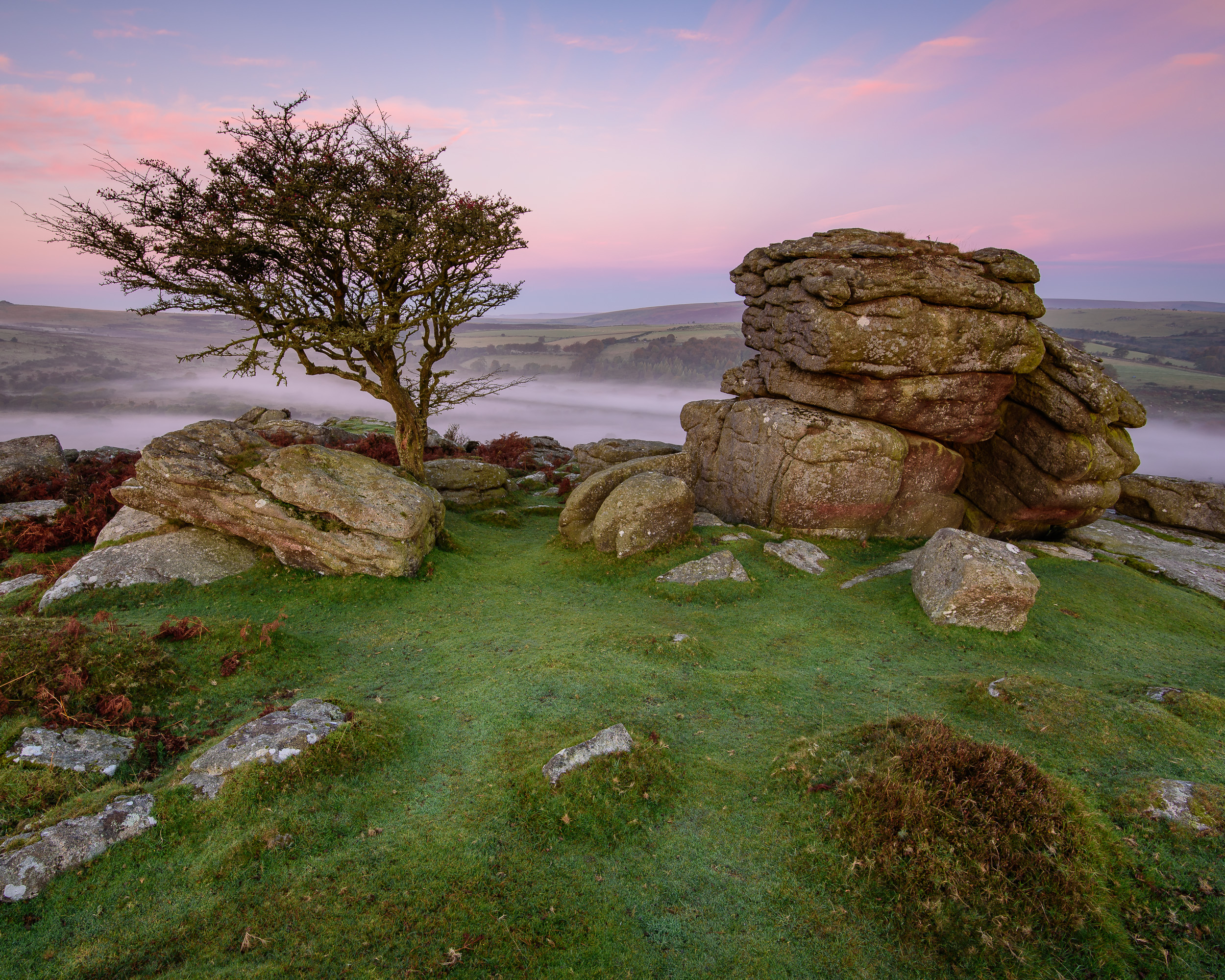 Both the rocks and the tree are great elements to include in your composition. This location is good to shoot at both dawn and dusk.