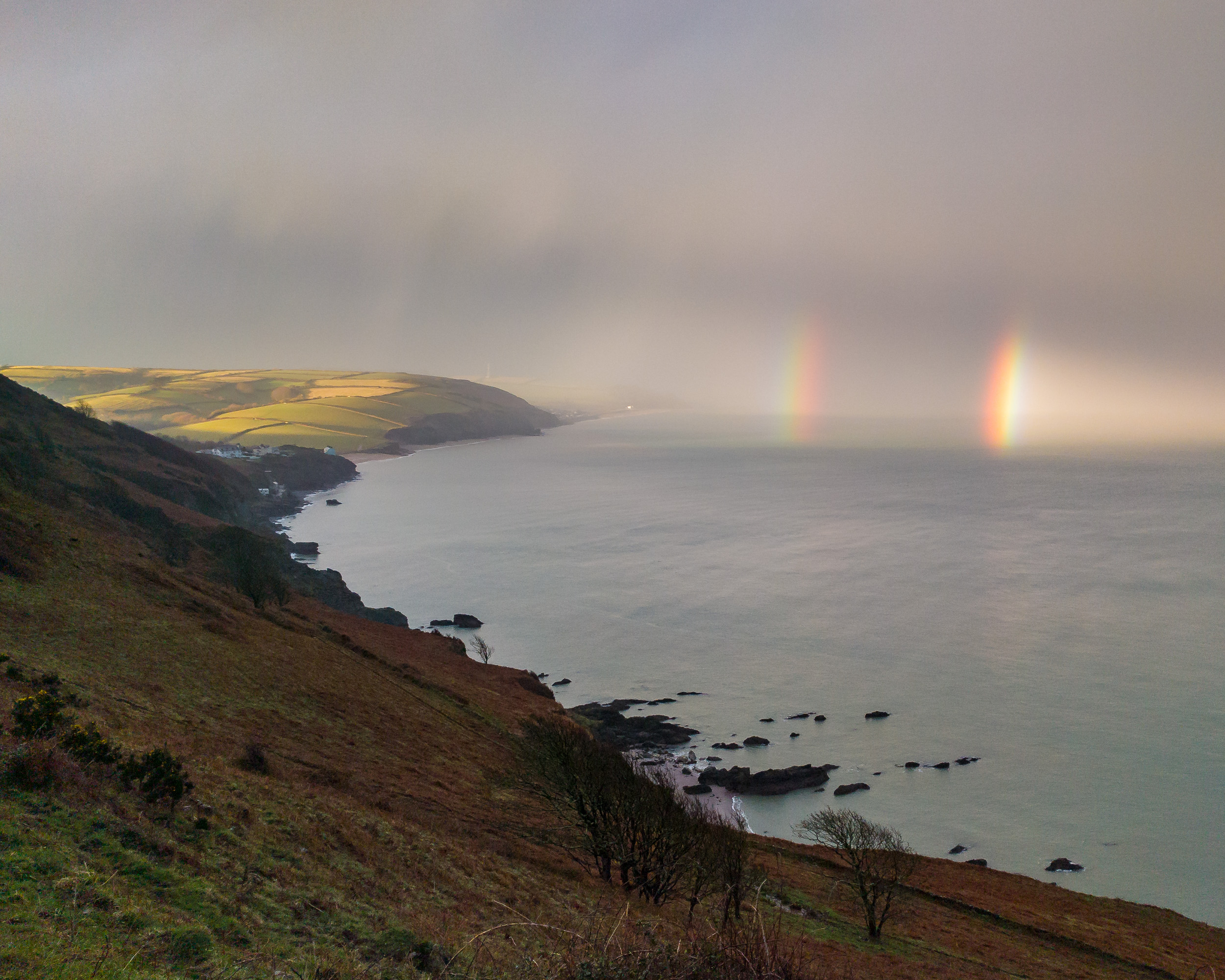 Spectacular conditions immediately after the storm had passed. I had to be quick just to grab this shot with the phone.