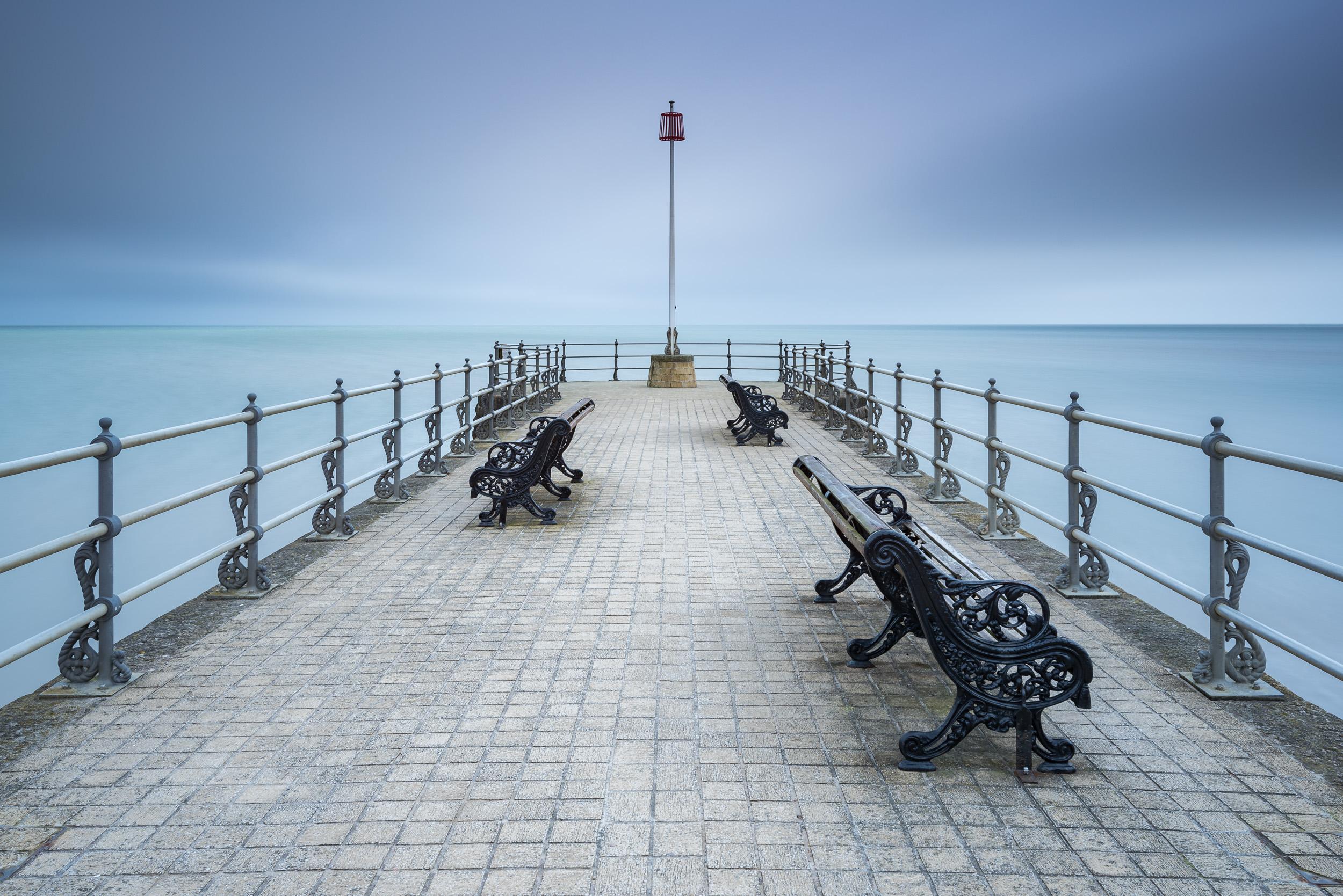 Banjo Pier, Swanage. Nikon D750, Nikkor 16-35mm f/4 at 28mm, f/11, 30 secs, ISO 100, Lee Filters Big Stopper.