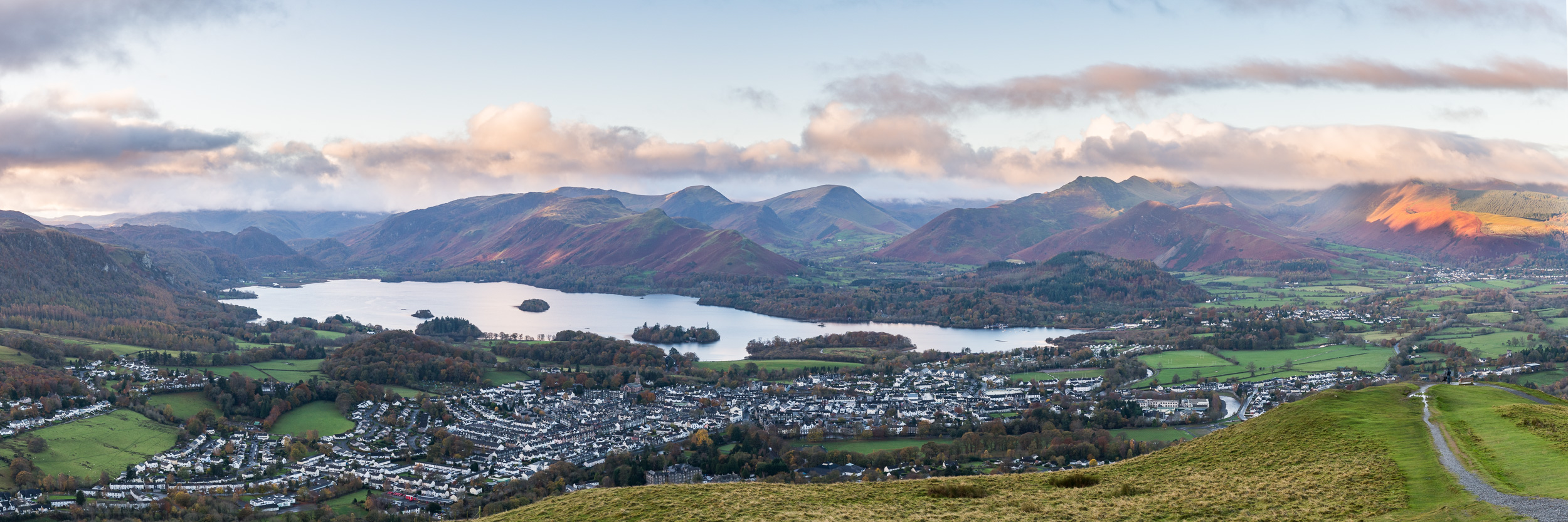 Derwent Water and Cat Bells Panorama