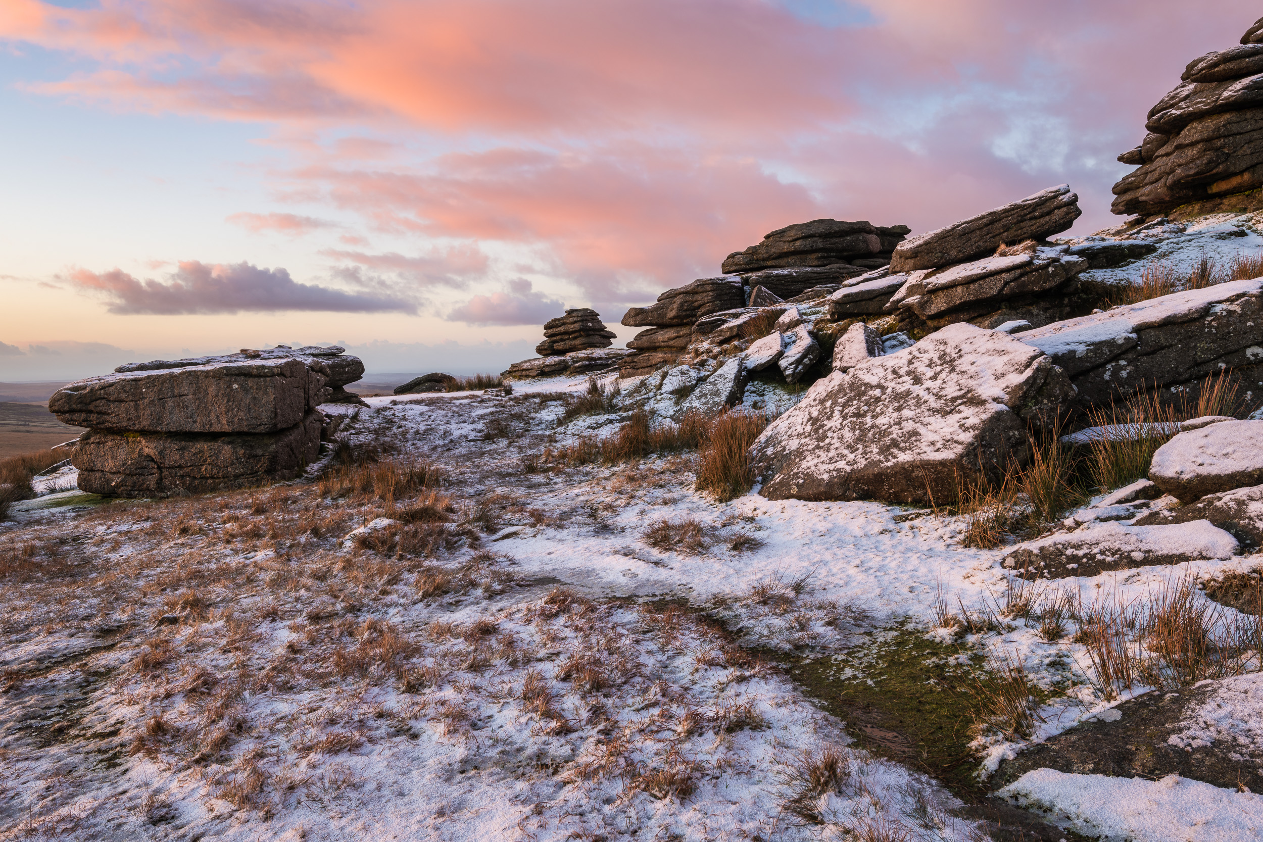 Morning Snow on Great Mis Tor