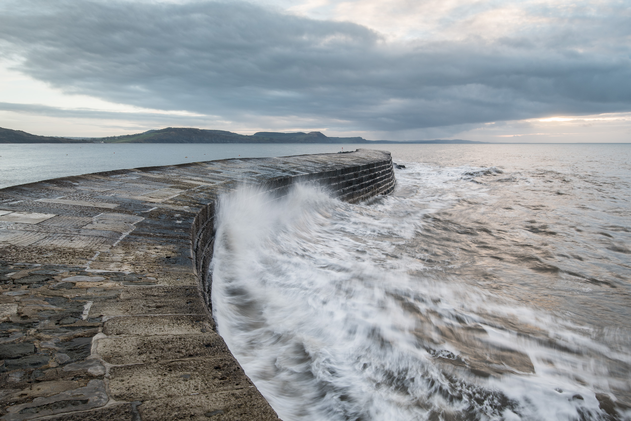 The Harbour Wall at Lyme Regis