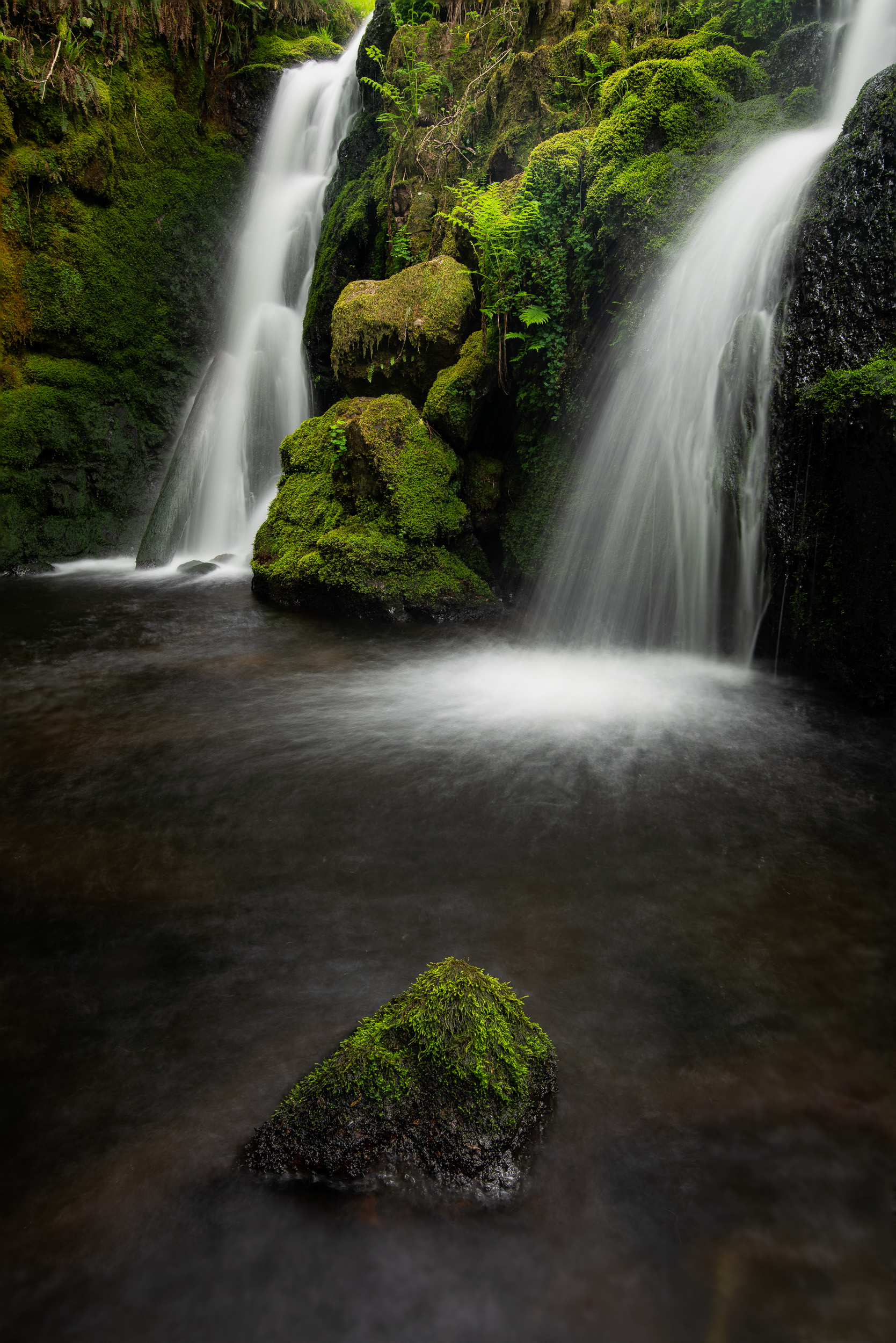 Venford Falls  - Dartmoor, Devon: Nikon D850, Nikkor 16-35 mm f/4 at 24 mm, 2.5 secs at f/8, ISO 64, Lee Filters Circular Polariser.