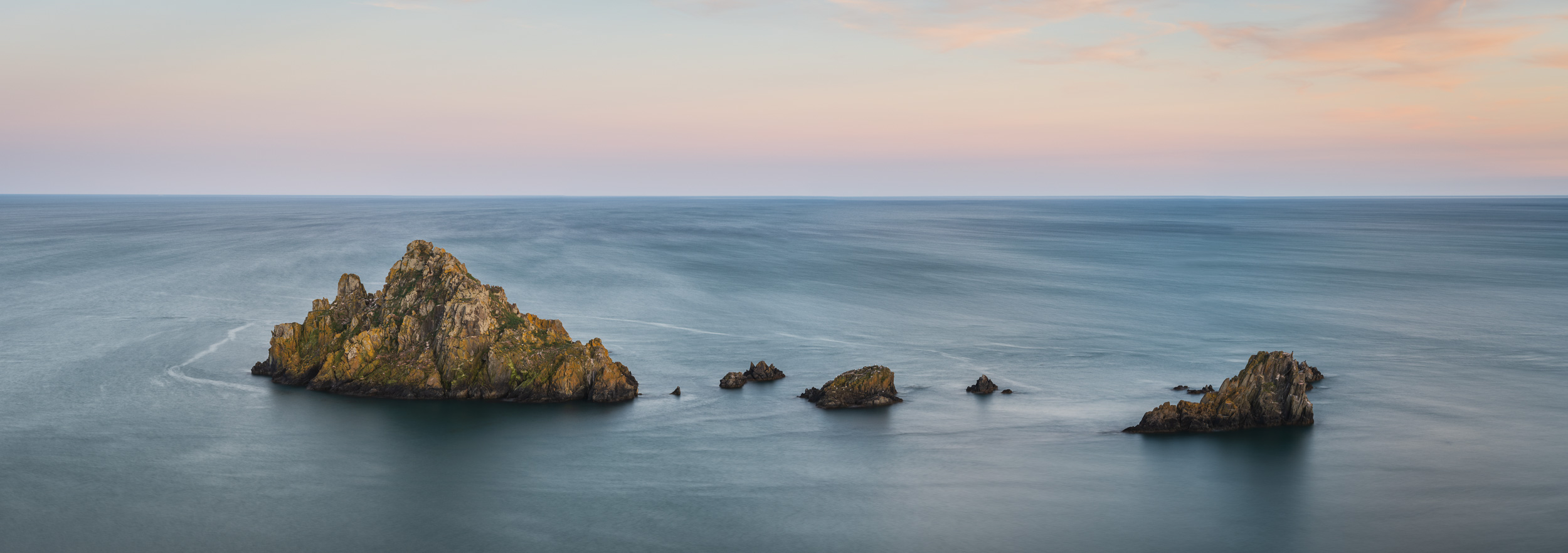 A Coastal Long Exposure Panorama  - Froward Point, Devon: Nikon D850, Nikkor 70-200 mm f/2.8 at 70 mm, 20 secs at f/11, ISO 64, Lee Filters Circular Polariser. 5 Image stitch.