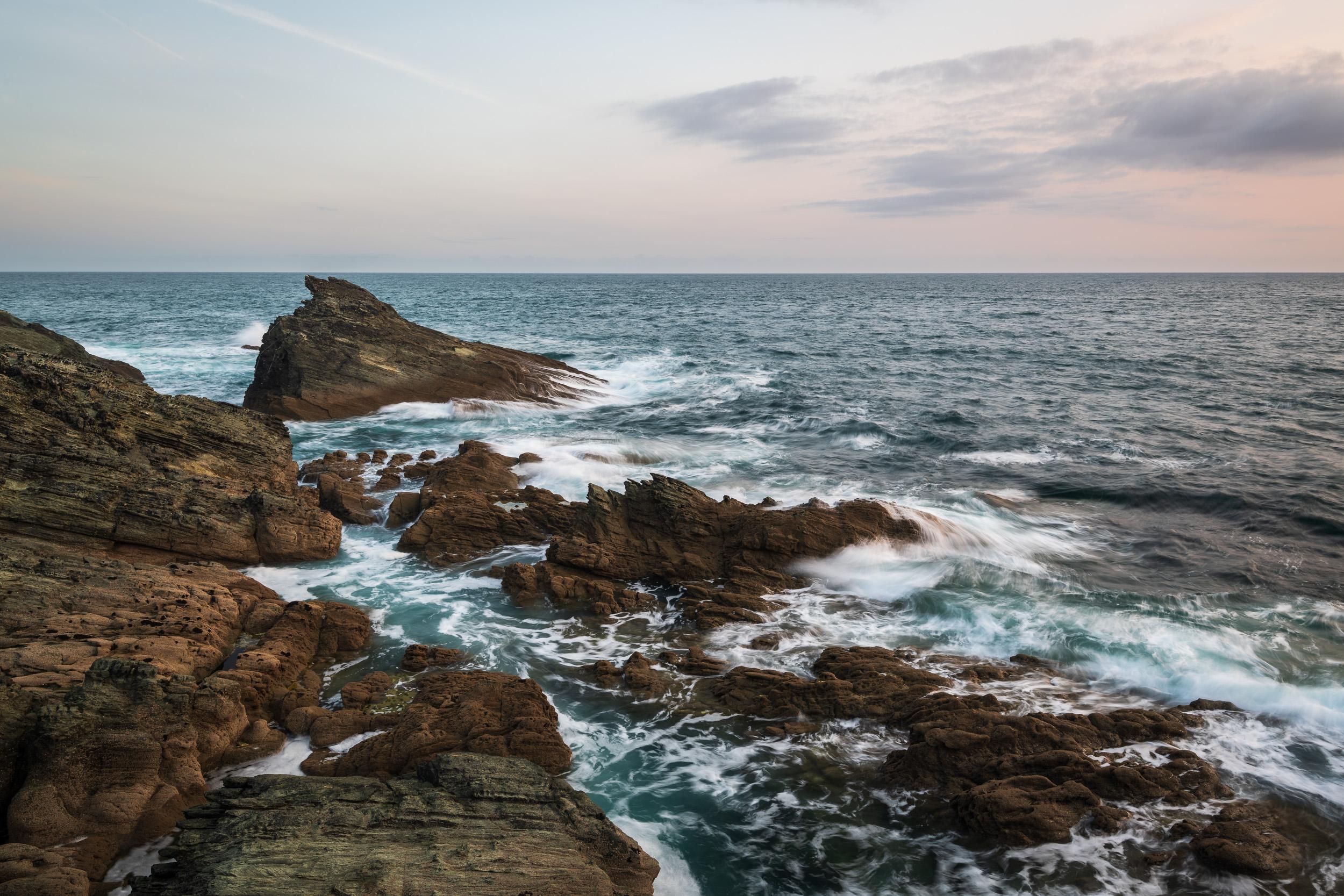 The Rocks at Gammon Head #1, Devon  - Nikon D850, Nikkor 16-35 mm f/4 at 24 mm, 0.5 seconds at ISO 64, f/13, Lee Filters Circular Polariser.